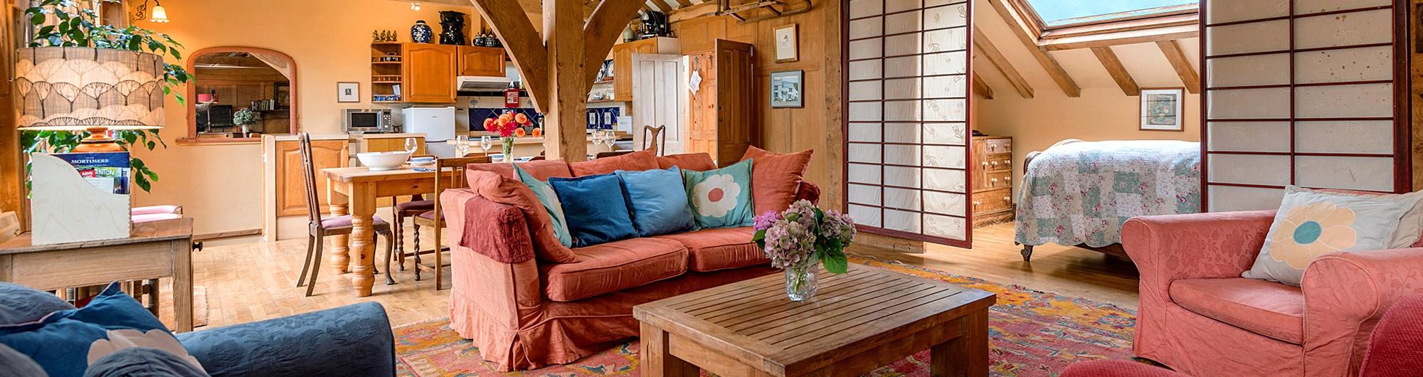 the barn living room