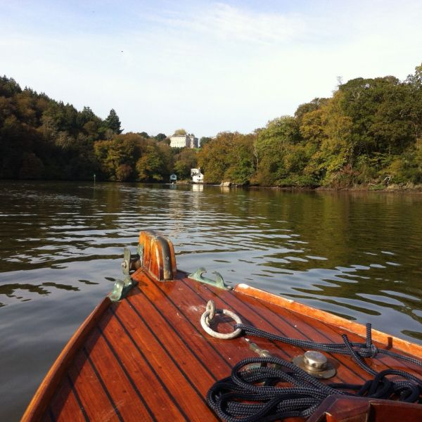 Dart by Sharpham boathouse