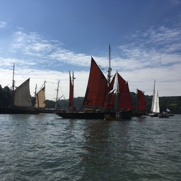 Classic boats on the Dart