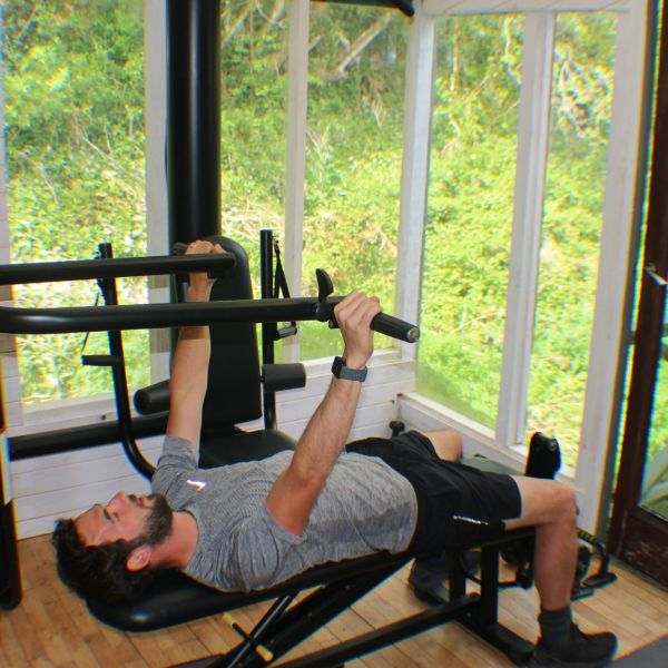 Multigym in use