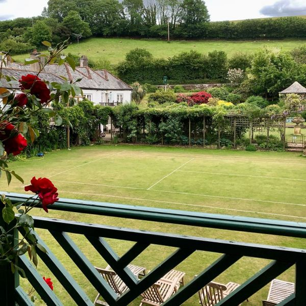 Folly overlooking garden